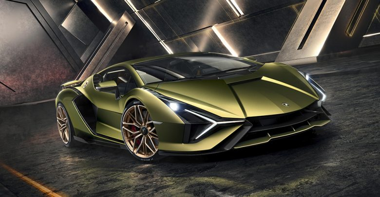 Lamborghini's first hybrid car