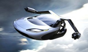futuristic flying vehicle