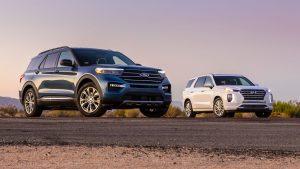 Ford Explorer 2020 vs Hyundai Palisade 2020
