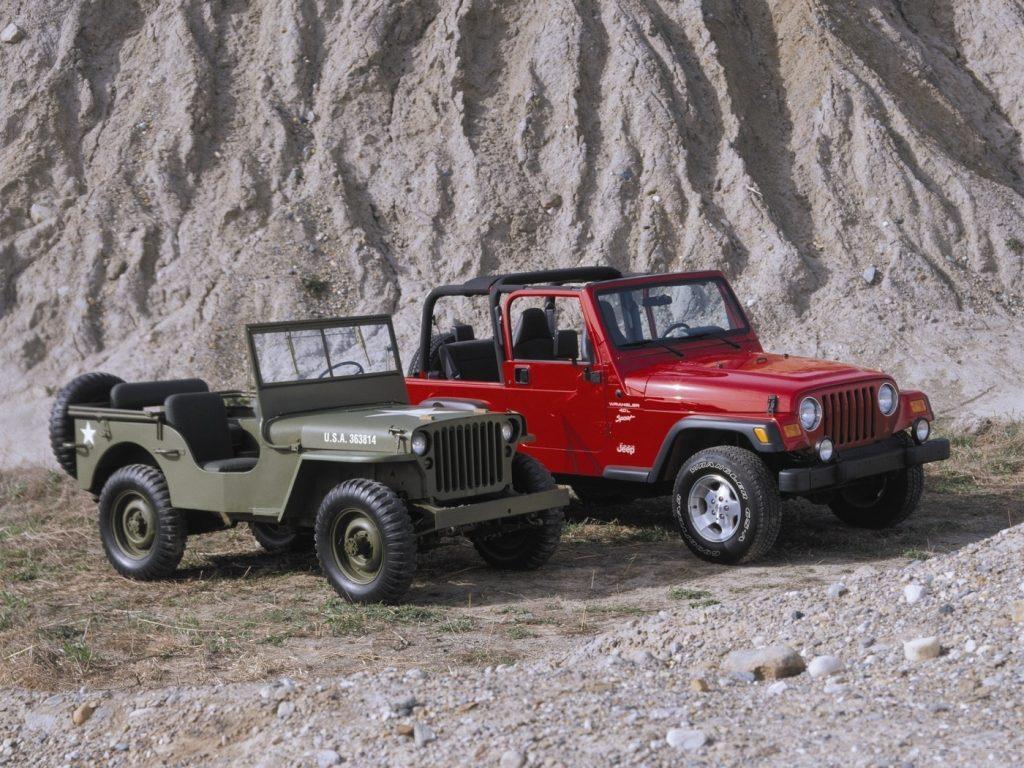 Jeep Wrangler vs 41 Willys MB