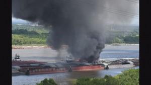 Blaze near Cochrane Bridge