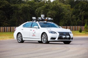 Toyota self-driving vehicle