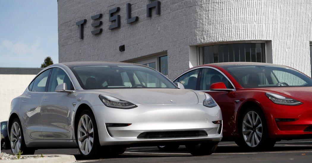 Tesla Model three cars